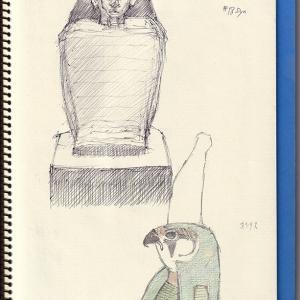 エジプト美術 III ーイネブニイ方形像ー  Egyptian Art II  -Block Stature Of Inebuny and Osiris,-
