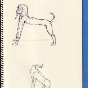エジプト美術 VI   Egyptian Art VI  - Sphinx and Ammut -