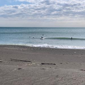 オフショアとともに急になくなった波。。。週末はサイズアップ??