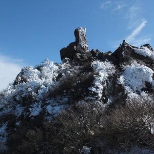 雪景色の由布岳へ