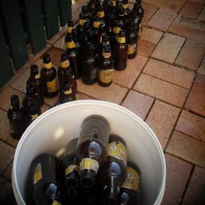 自家製ビールの瓶詰の日です。