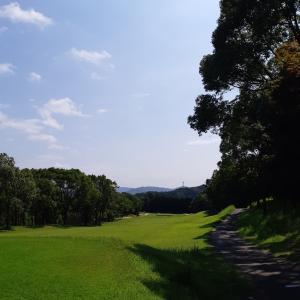 滝のあるゴルフ場