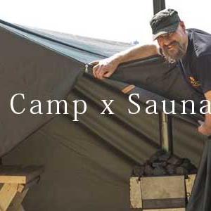 サウナ x Camp 夢のコラボ 本場フィンランド発「軽量サウナテント」