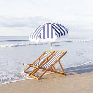 ビンテージストライプ新登場 夏のビーチに「ボヘミアンビーチパラソル」