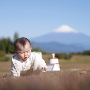 ロケーション撮影│ 富士山をバックに1歳のバースデーフォト撮影│静岡市