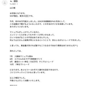 オプション取引未経験者が4ヶ月で50万円達成!