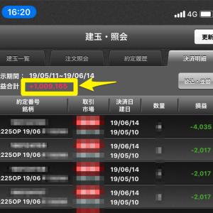【速報】日経225オプションで100万円稼いだよ(*証拠画像あり)