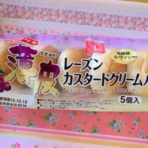 薄皮レーズンカスタードクリームパン☆ヤマザキ