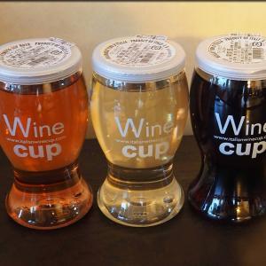 夕飯はワインカップと共に