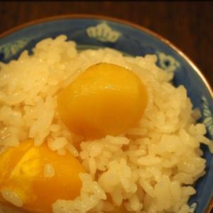 金沢浅田屋の熊本産栗使用の栗ご飯の素を使って