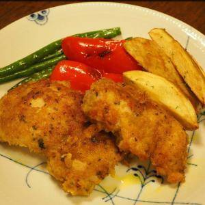 鶏肉のカレーパン粉焼き
