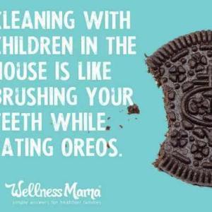 歯磨きしながらオレオ