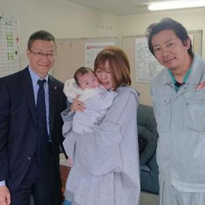 産休中の女性ドライバーさんがお子さんを連れてきてくれました。