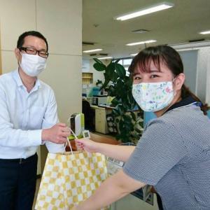 #マスクを届けよう で集めたマスクを平出章商店さんにお届けしました。