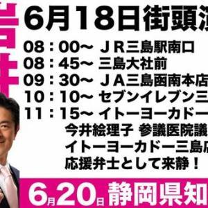 岩井しげき 街頭演説情報~ 6月18日