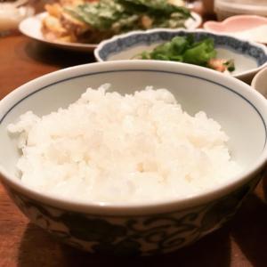尚志、新米を食べる