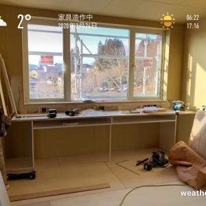 2020/2/24 家具造作中