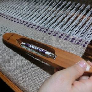 好きな色で織る浮き織り