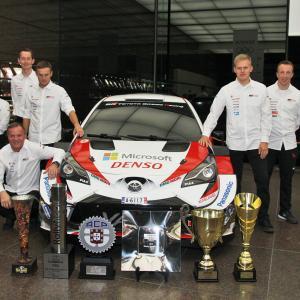 【WRC】トヨタWRCドライバー東京に集結。トミ・マキネン代表「新しいチャンピオンを生み出せた」