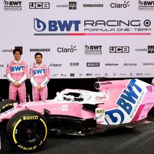 レーシング・ポイントF1チーム、新車『RP20』のカラーリングを公開