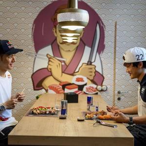 """やっぱり""""白いご飯""""は日本人にとってのエネルギー?中上貴晶&角田裕毅が語る「食」"""