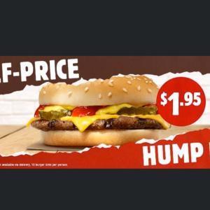 バーガーキング チーズバーガー半額の日は