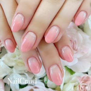 可愛いピンクのグラデーション