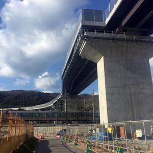 第二名神工事の進捗具合(高槻東道路供用開始