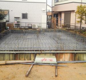 基礎工事:滋賀県栗東市の木の家
