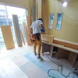 木工事も終盤:滋賀県栗東市木の家