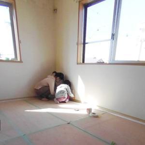 漆喰塗りセルフビルド(DIY)その1:滋賀県草津市自然素材の家リノベーション工事