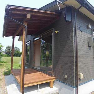 ウッドデッキ:亀岡市平屋建ての新築工事
