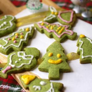 ほうれん草のクリスマスクッキー