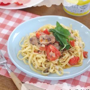サバ缶とトマトのスパゲッティ