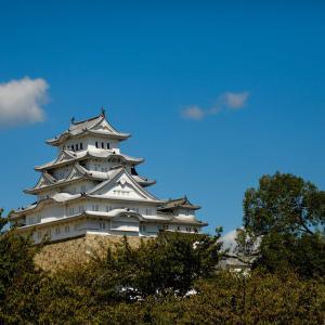 生家近くから撮った姫路城