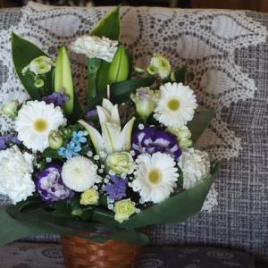 お花が届く・そして整体治療