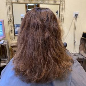 セレブの縮毛矯正+デジタルパーマ+カラー