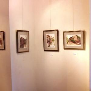 中国古北水鎮とイタリアトスカーナを描いた素敵な水彩画展…小松修水彩画展
