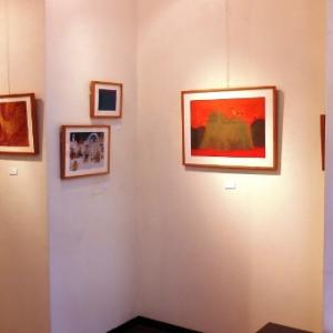 カラフルで楽しいオイルパステルの絵画作品展です!…おおらいえみこ展・花鳥風月