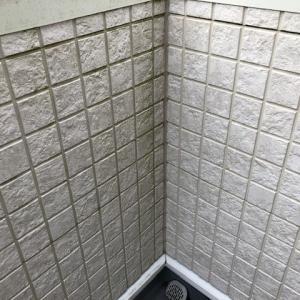 2年ぶりにバルコニーの床と壁を洗浄