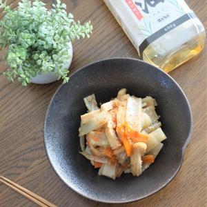 ボーソー米油でうどと油揚げの炒め煮