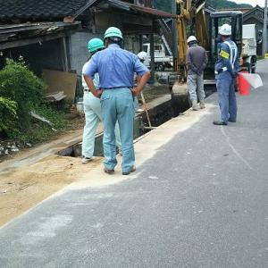 琴浦町下水工事施工中です