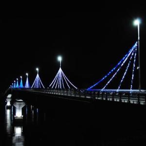 九島大橋イルミネーション2020