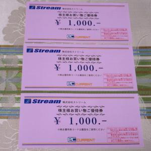 【株主優待】『ストリーム』 100株 x3