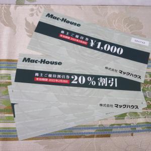 【株主優待】『マックハウス』 100株 x3