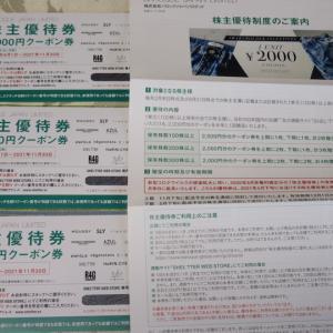 【株主優待】『バロックジャパン』 100株 x3