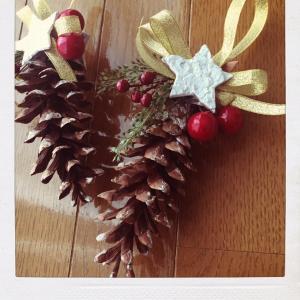 ●松ぼっくりオーナメント●クリスマス準備その3