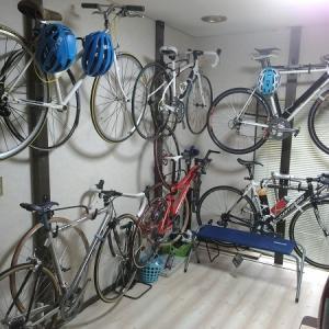 自転車の展示?(笑)保管を変えてみた