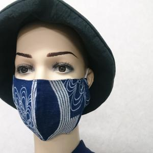 着物はぎれ「絹絽、綿絽、木綿絣で夏マスク」