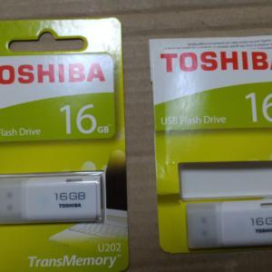 TOSHIBA製のUSBメモリ16GBを2個買ってみた